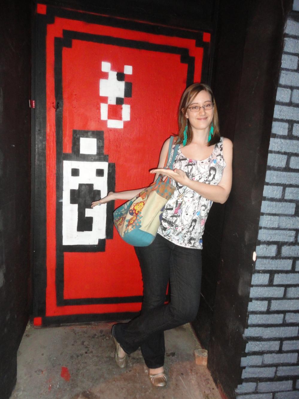 I see a red door..