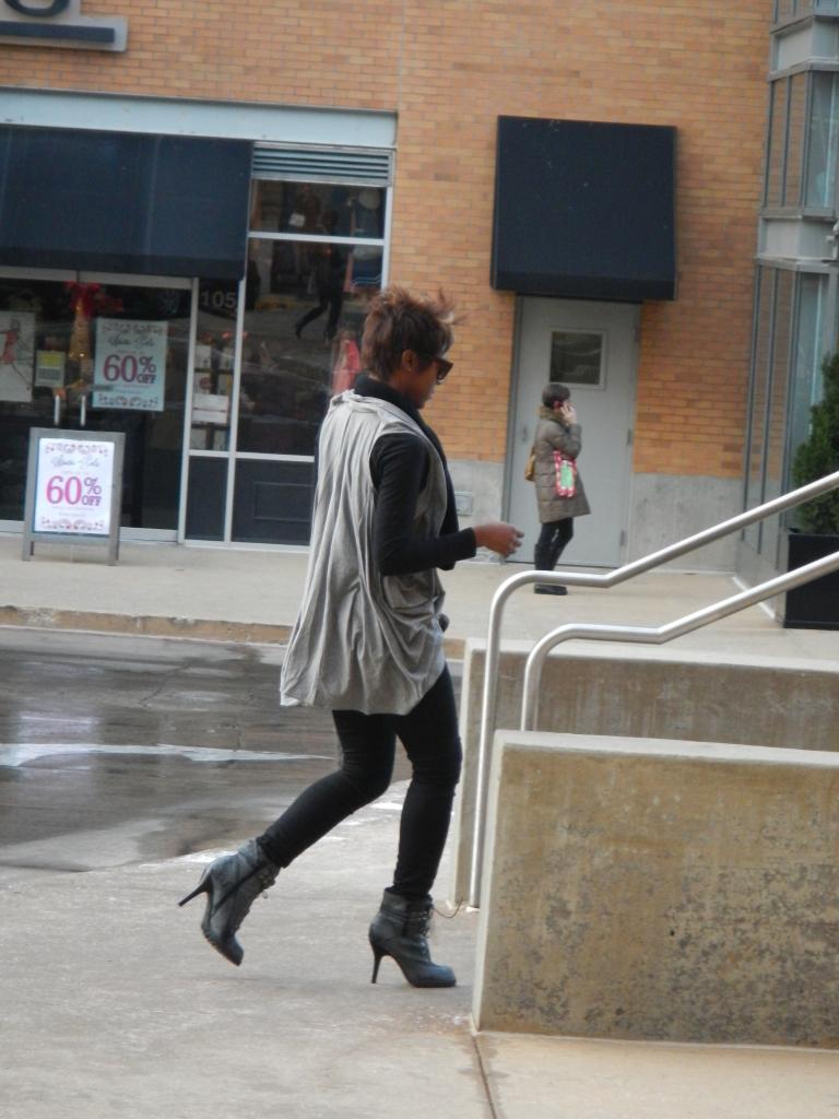 Mockingbird Station - running into Urban Outfitters on stilettos.