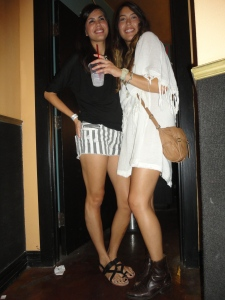 Granada - White Fringe and Striped Shorts
