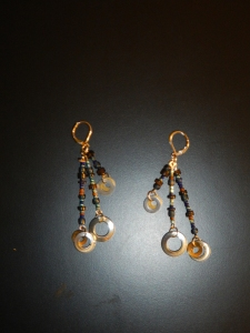 Simple bead earrings.