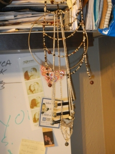 The hanging spot. I also need to make some jewelry hangers.