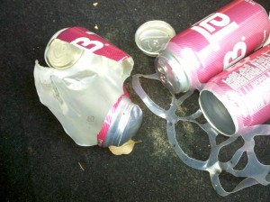 I am not the type of person who has never blown up cans of Tab in the trunk of the car.