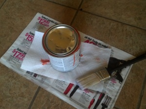 1pm - Bonus: Paint can with Ulta flyer.