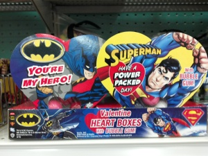 Unless maybe its Superman and Batman candy boxes that are probably intended to attract children.