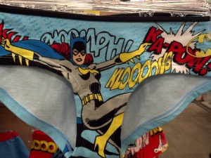 If you're buying for your girlfriend, or if you're a lady buying for yourself, or if your boyfriend enjoys both superheros and women's underwear (we're not here to judge), Target has Batgirl.