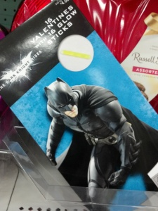 But apparently I'm not a real Batman fan, because I don't get the glow stick tie-in.