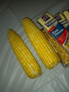 3pm - Corn and crackers. i can't tell you why.