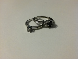 My wedding/engagement ring, and my promise ring from before that.