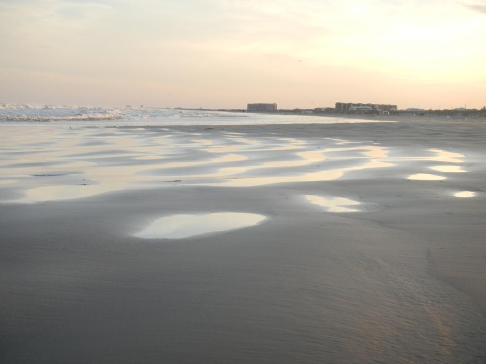 Pools on sand