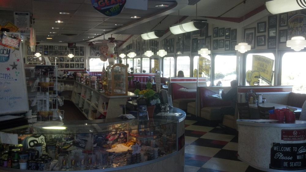 The Galaxy Diner in Flagstaff being exactly as you'd imagine it. (Ok so Flagstaff is not a small town really.)