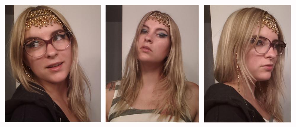 Cleopatra fake bangs.