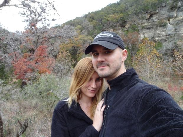Lost Maples couple selfie...