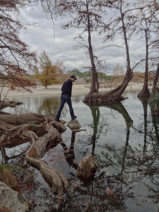 Garner State Park - balancing on roots.