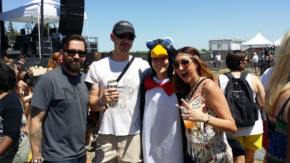 Chillin' with a random penguin.