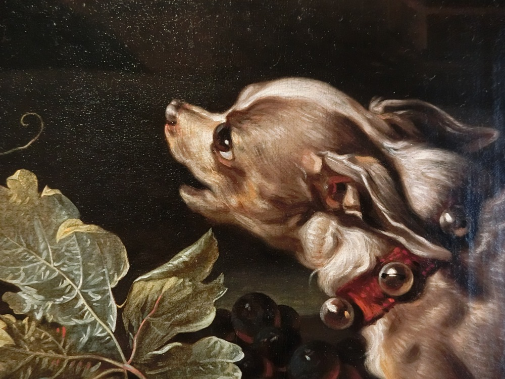 painting detail little dog